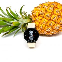Montre Vegan Another Edition 1 Acier Noir et Blanc Naturel Pinatex vue de face