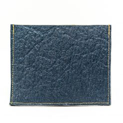 Sirius vue de dos Porte cartes Or Antika & Bleu Indigo Pinatex made in France