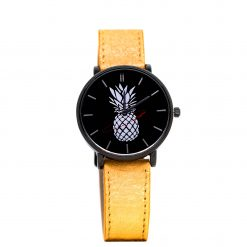 Montre Vegan Another Edition 2 Acier Noir et Or Antika Pinatex vue de face