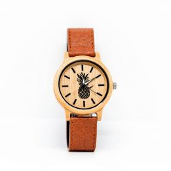 Montre Vegan Limited Edition 2 Bois d'Erable et Cannelle Pinatex vue de face